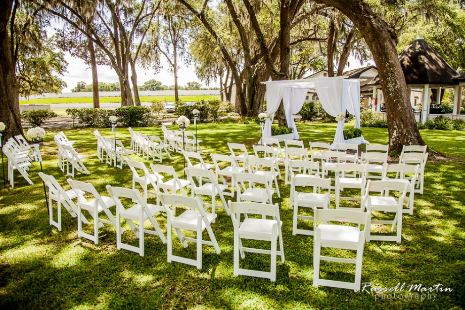 Jumbolair Aviation Estates Wedding, Party Time Rentals. Barn ceremony