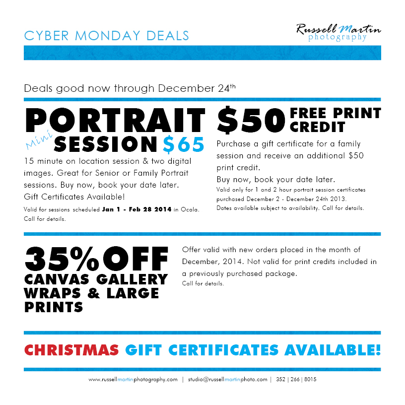 Cyber Monday Deals Portraits