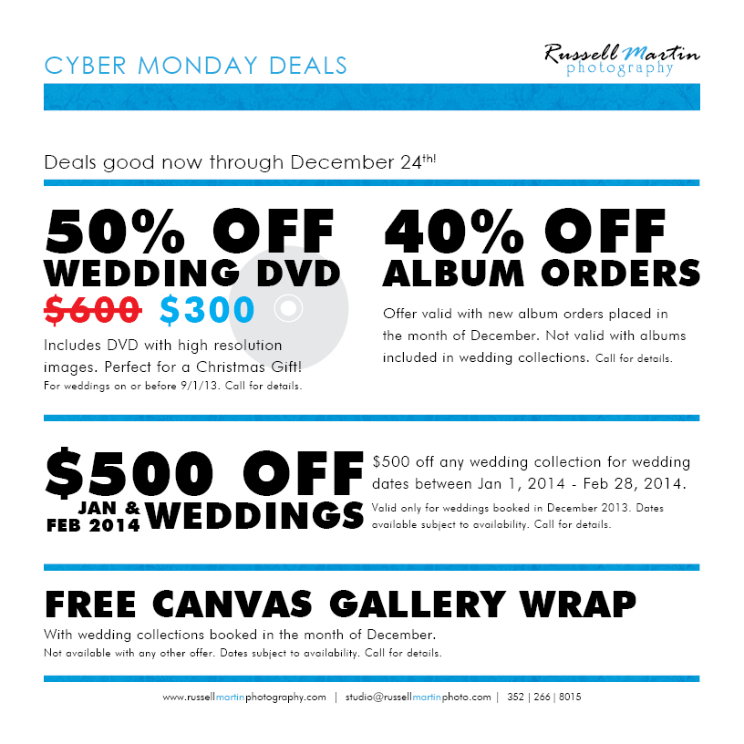 Cyber Monday Deals Weddings