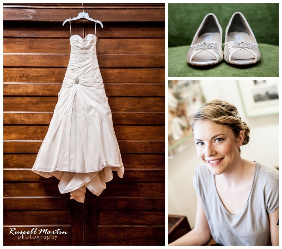 Dress and Shoes, wedding Flats, Thomas Center Wedding