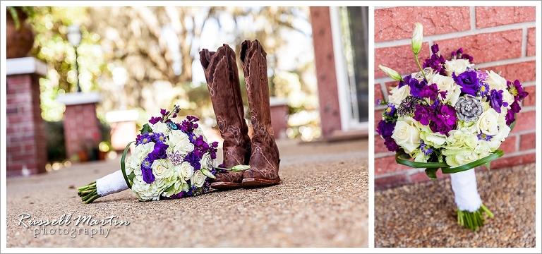 Boots, Bridal Bouquet, Flowers, Jumbolair, Wedding, Ocala, FL